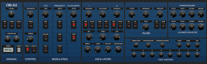 OB-Xd 1.3 Blue Theme